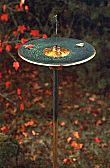 Misty Bird Bath - Green